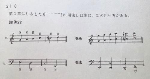 オクターヴ記号 「8」