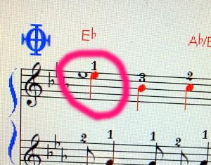 一拍に同じ音が並んで書かれている場合