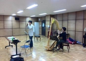 オカリナ奏者 堀田峰明さんゲスト演奏のサポート(トリオ)  海老名文化会館