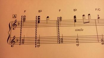 和音のアルペジョの最後の音は、どこに合わせたら良いか。