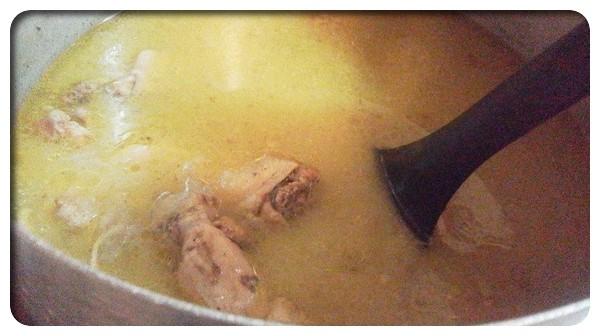 Cooking:今度はグリーンカレー味のスープにする
