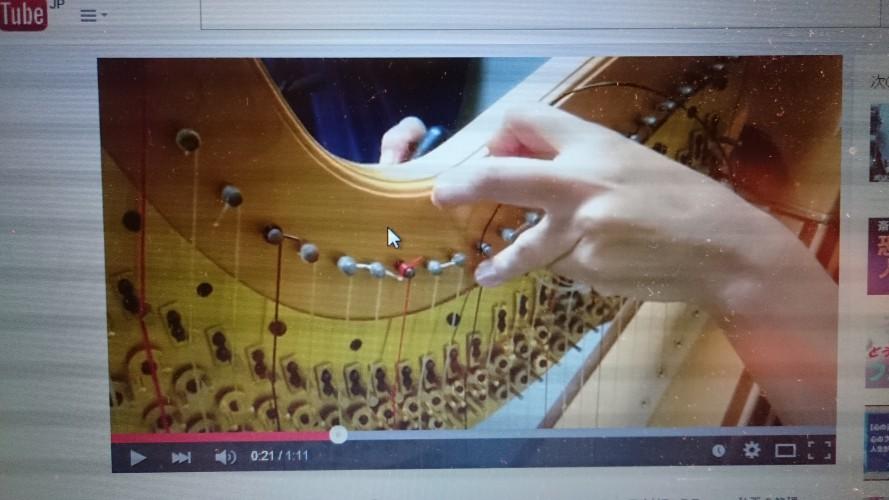 ハープ弦の結び方と張り換え方(動画)