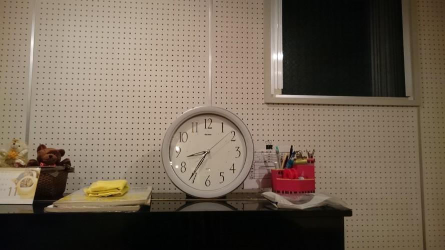 夜の練馬のスタジオから。