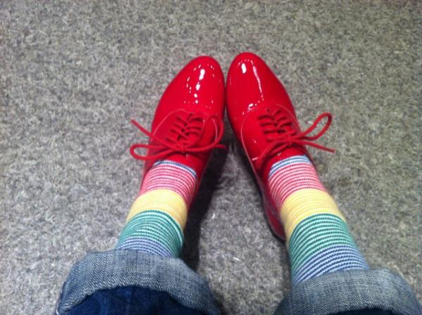 「赤い靴」のレバーハープ用楽譜の制作過程で却下になった、赤い靴の替え歌部分 「赤い靴」制作秘話