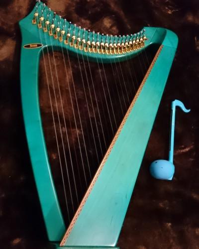 ハープは見ているだけで想像力がかきたてられる楽器^^