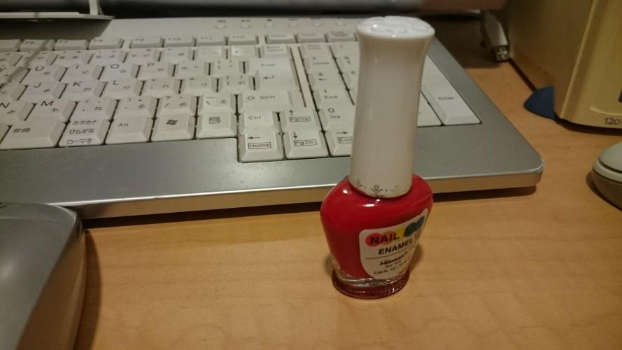 レバーハープのレバーに使ってみたら良かった物。赤いマニキュア。