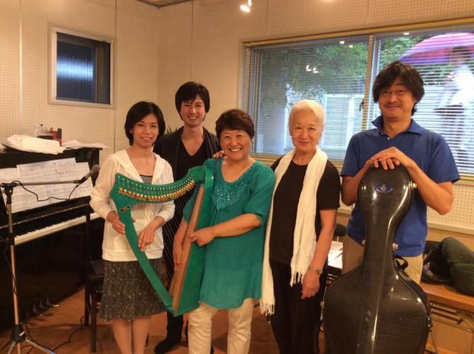 7月のレバーハープ楽譜 ソロ楽譜、フルートハープ楽譜等が追加されました。