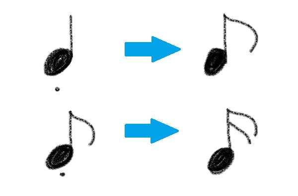 スタッカートは実際にどの位の長さで弾けば良いか。
