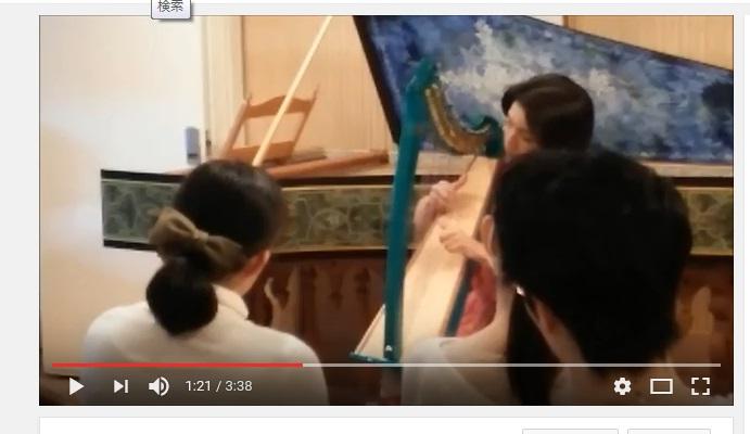 小型ハープ楽譜動画2本アップしました。彼方の光、やさしさに包まれたなら