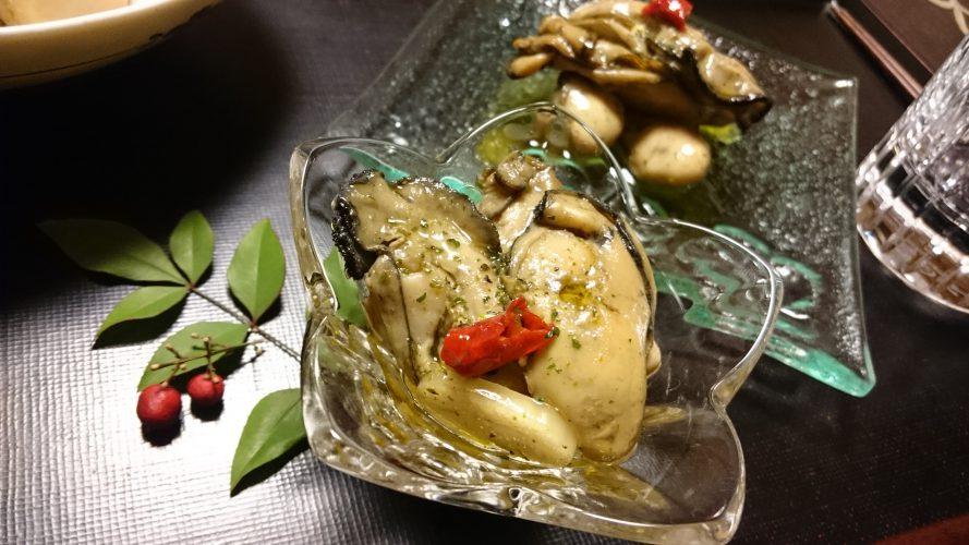 Cooking:牡蠣のオイル漬け