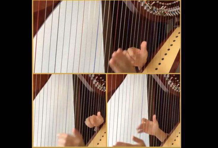やさしいレバーハープ(小型ハープ、アイリッシュハープ)アンサンブル楽譜 「冬げしき」