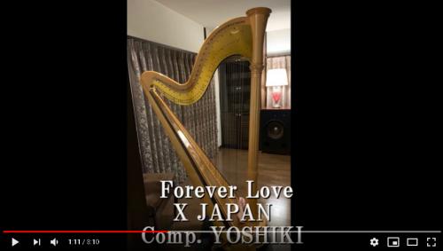 Forever Love for Irish harp の楽譜をグランドハープで録ってみました。