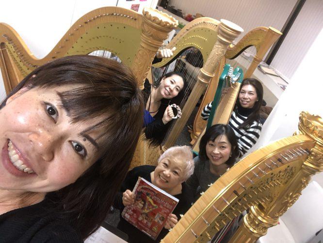 12月21日 リストランテサルーテ竹芝クリスマスハープコンサート