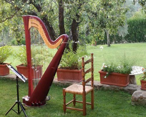 簡単な曲にグランドハープでグリッサンドを入れたい どこに入れるかと、そのペダル表