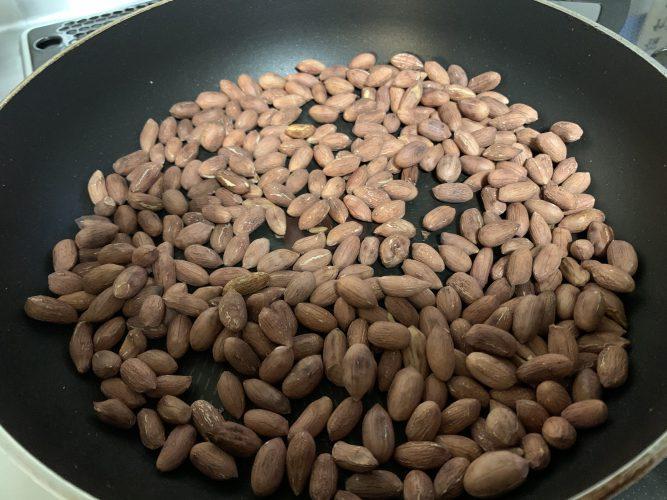 Cooking:千葉県東金産 生落花生を炒ってみました。