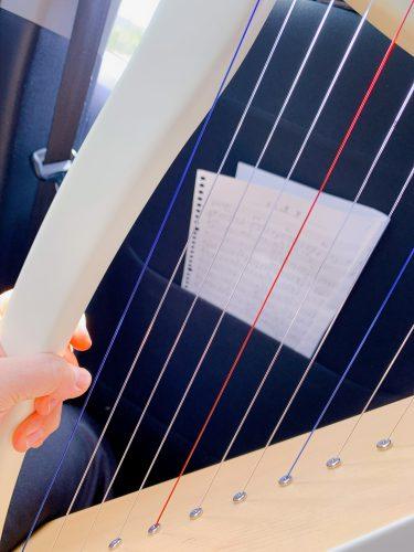どこでも弾けるベイビーハープ 車内で【紅蓮華】を練習しました。