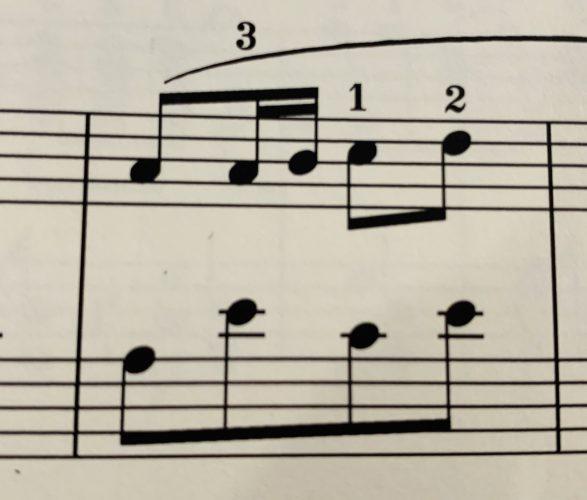 右手と左手のリズムが違うと同時演奏が出来なくなってしまう時