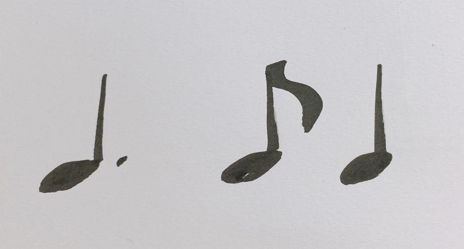 リズムを正確に弾く方法 付点四分音符 例)言葉を当てはめてみる