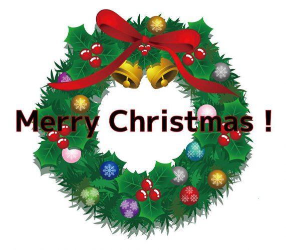 Merry Christmas!  と年末年始お休みのお知らせ