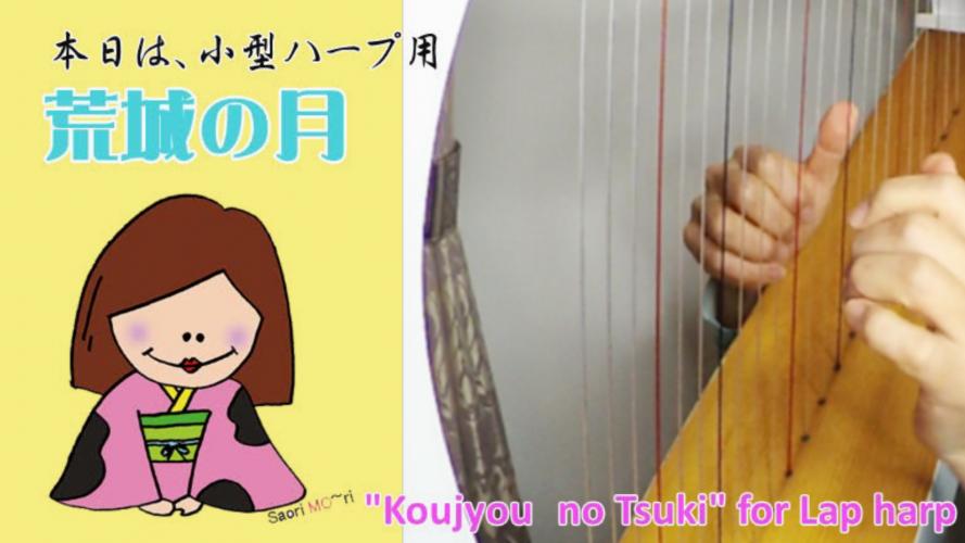 【荒城の月】23弦の小型ハープ
